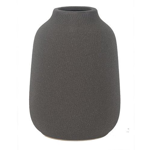 Vaso De Ceramica Cinza G