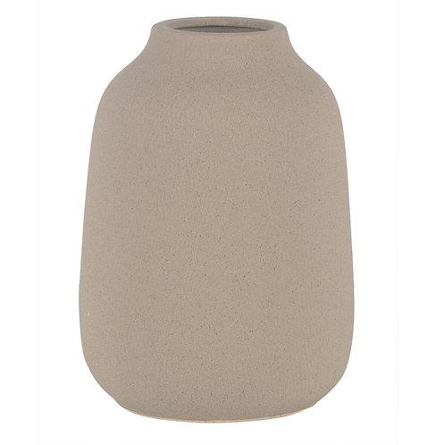 Vaso De Ceramica Bege G