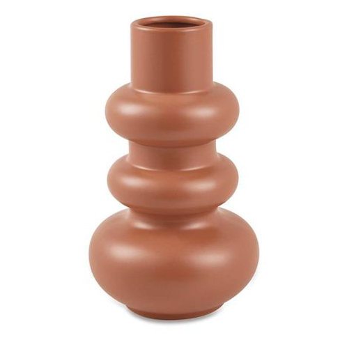 Vaso Em Cerâmica Laranja G
