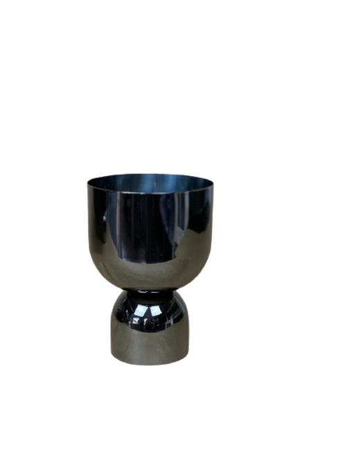 Cachepot Boreal Pequeno Niquel Black
