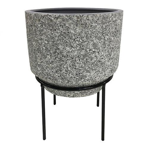 Cachepot De Cerâmica Com Suporte De Metal G