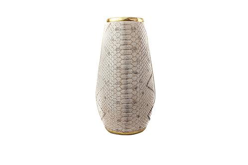Vaso Tipo Cobra Cinza E Dourado