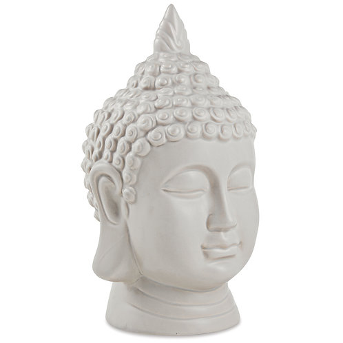 Buda Cinza Em Cerâmica