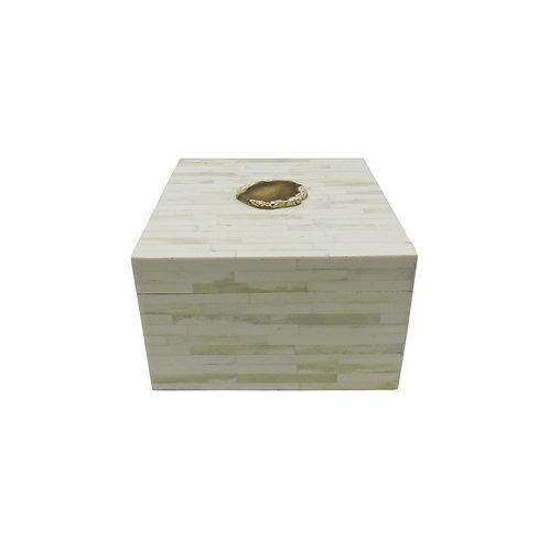 Caixa de Resina Estilo Osso com Pedra
