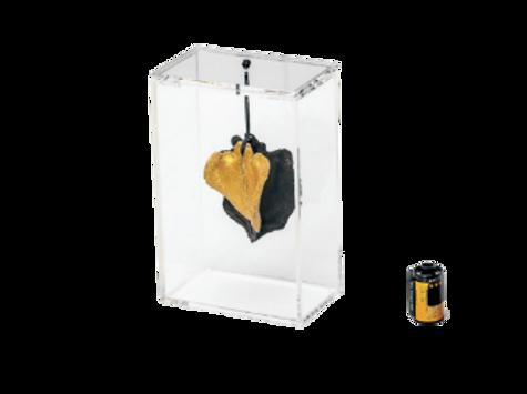 Caixa P Boca De Sapo Preta Com Dourado