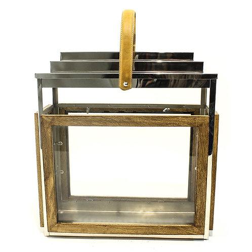 Porta Vela De Metal E Vidro P