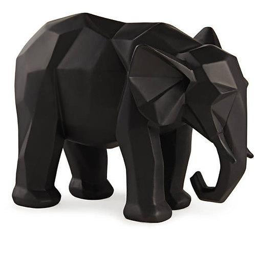 Escultura Elefante Preto em Poliresina G