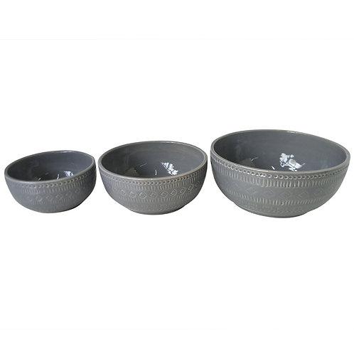 Bowl Em Cerâmica Cinza P