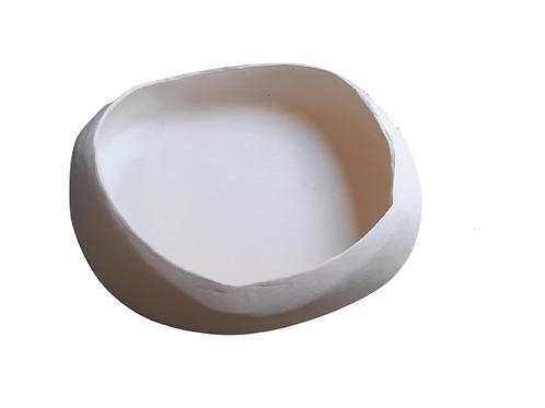 Casulo Branco Com Acabamento Natural G