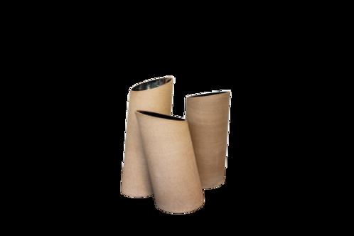 Vaso inclinado G Tabaco/Dourado