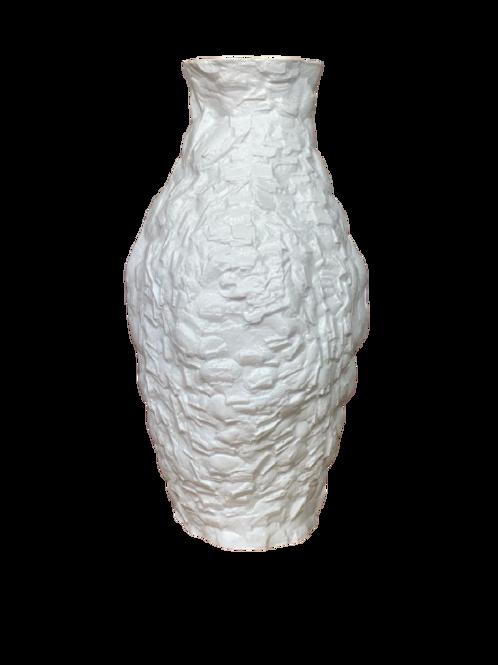 Vaso Edros Pedra G/ Branco Fosco