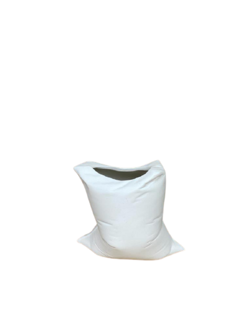 Vaso Reutilize Natural Porcelana Branco Fosco B