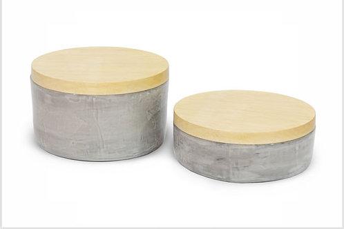 Potiche Cerâmica/Madeira G