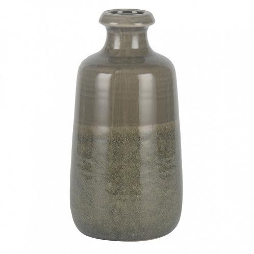 Vaso De Cerâmica Cinza G