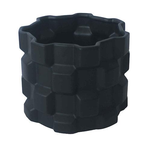 Vaso De Cerâmica Com Textura Geométrico G