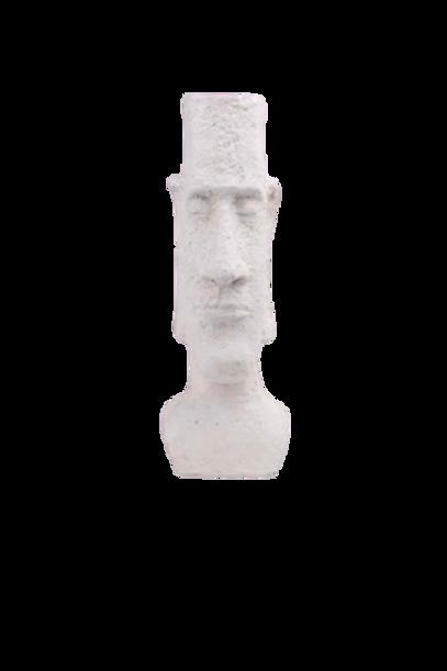 Peça Decorativa de Resina Branca Rosto