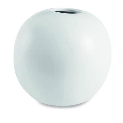 Vaso Bola Branco em Cerâmica  P