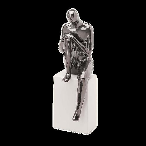 Escultura Homem Em Cerâmica