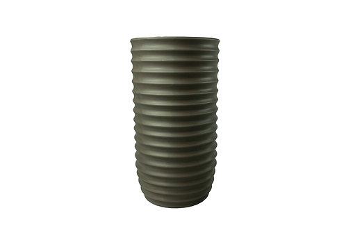 Vaso Decorativo em Cerâmica Cinza Escuro P
