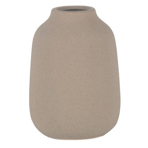 Vaso De Ceramica Bege P
