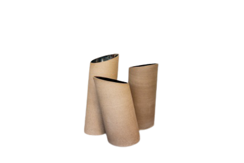 Vaso Inclinado M Tabaco/Dourado