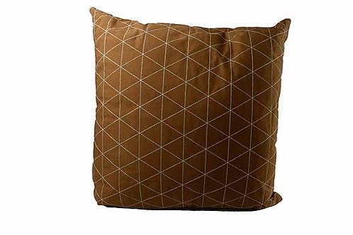 Almofada Sarja Caramelo Triângulos