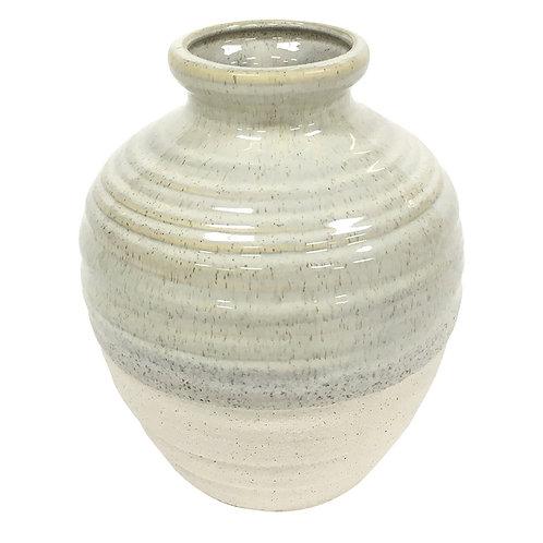 Vaso Em Cerâmica Areia P