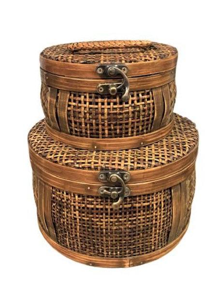 Cj De Baus De Bambu- Redondo