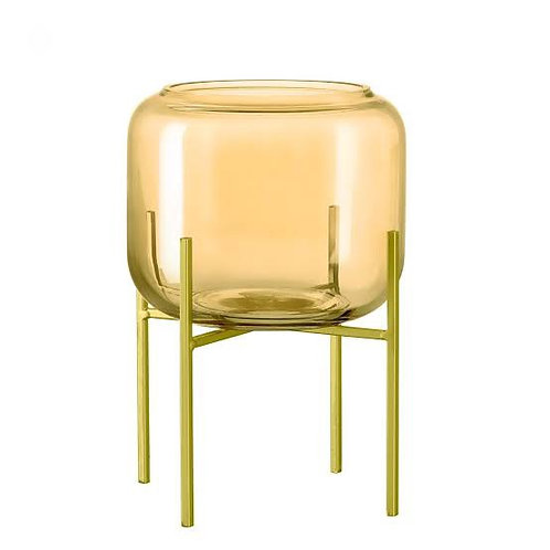 Vaso champanhe em vidro com suporte