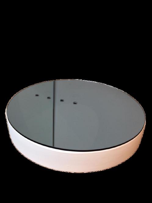 Vaso Água G Baixo em Espelho Fume Branco