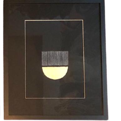 Moon Nanquin E Aplicações Em Folha De Ouro E Prata A