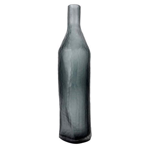 Garrafa de Vidro Cinza e Branco