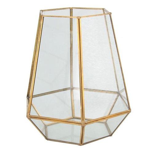 Vaso de Metal e Vidro
