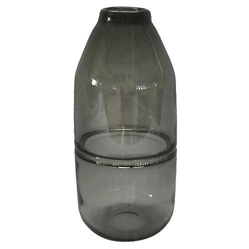 Vaso de Vidro Transparente Fumê