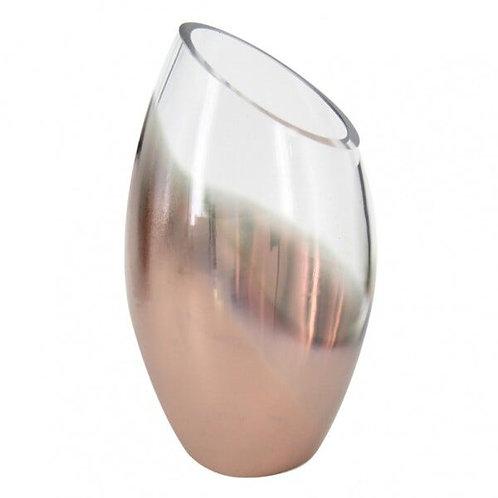 Vaso de Vidro Degradê Cobre M