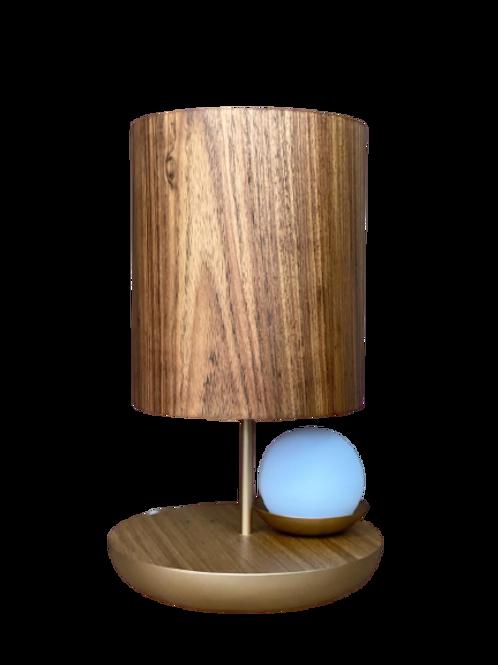 Luminária A619 Ouro/Freijo 2 Lâmpadas