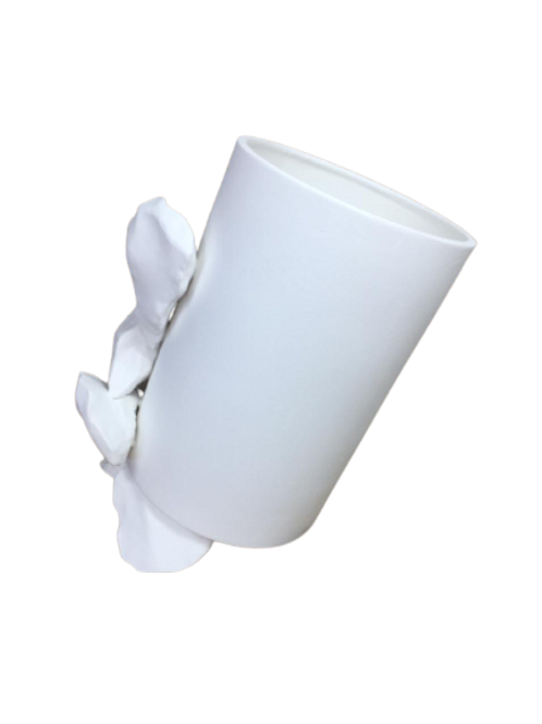 Vaso M Alto Pedras Branco