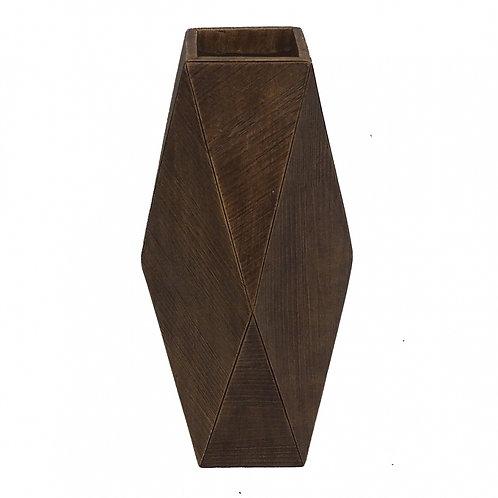 Vaso Decorativo De Resina Marrom G