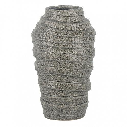 Vaso De Cerâmica Cinza P