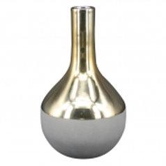 Vaso De Cerâmica Cinza E Dourado