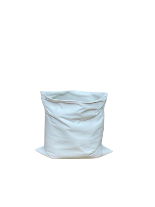 Vaso Reutilize Aberta Porcelana Branco Fosco B