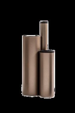Vaso Grande Em Aço Carbono  Perola e preto
