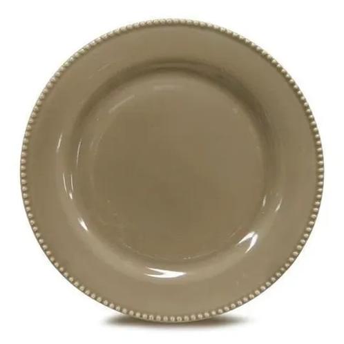 Prato Sobremesa Perla Cinza 20,4cm