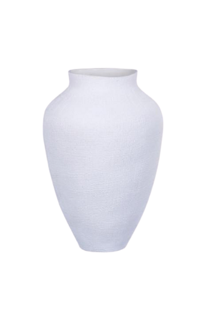 Vaso de Cerâmica Branco M