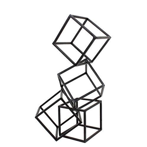 Escultura Geométrica Preta