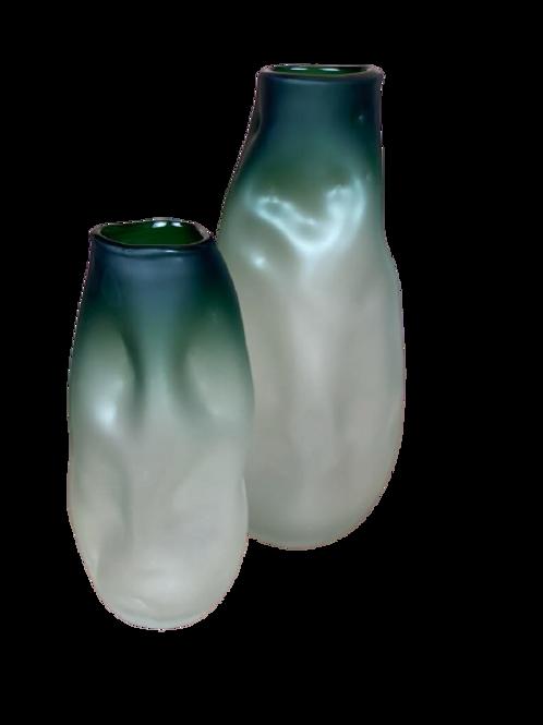 Vaso de Vidro Verde P