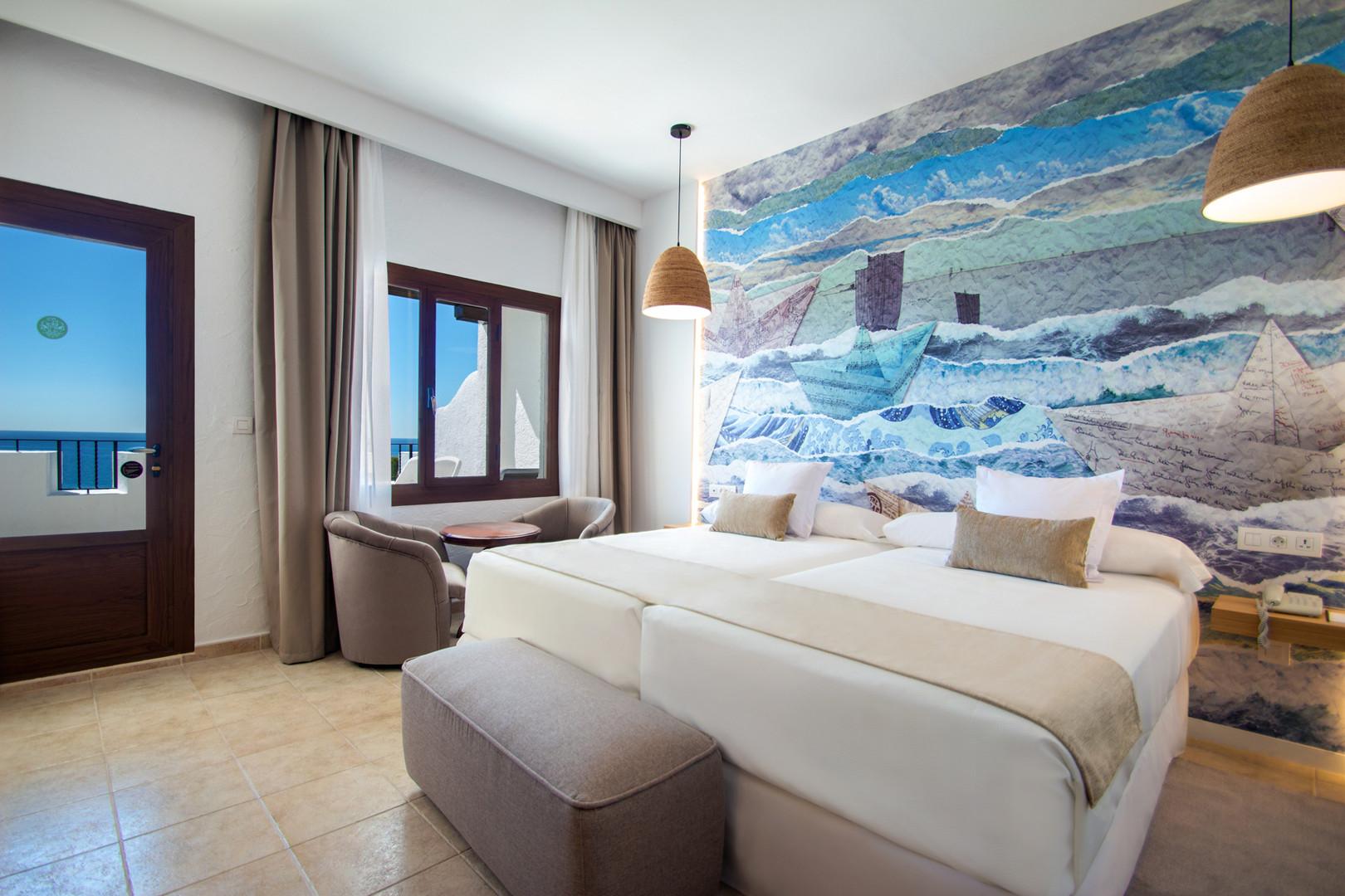 Chambre double de l'hôtel Montiboli - Tweepersoonskamer in het Hotel Montiboli