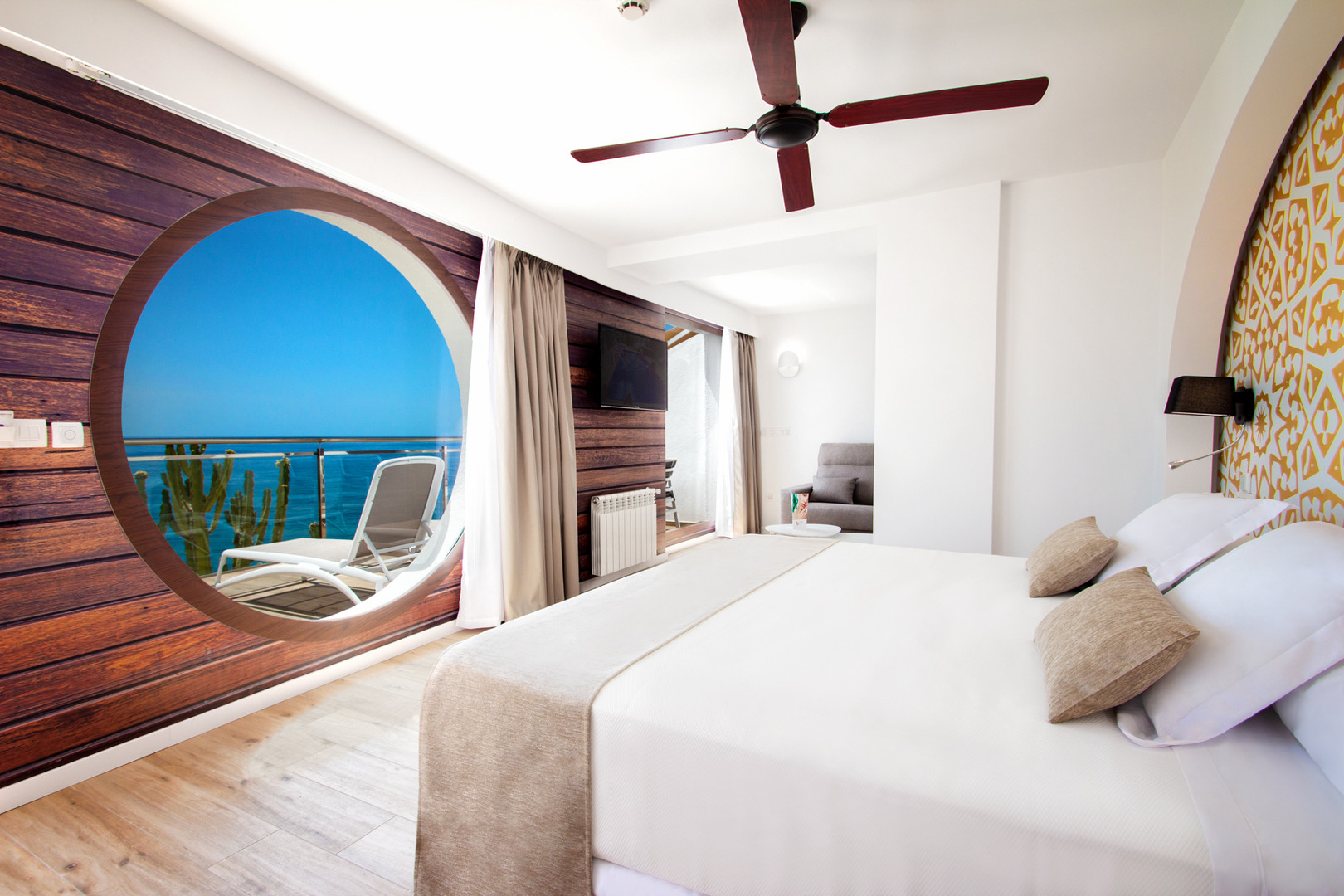 Tweepersoonskamer in het Hotel Montiboli