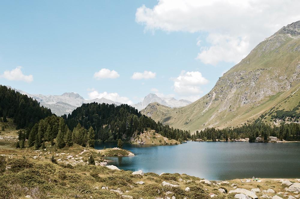 het ontdekken van Graubunden in zwitserland