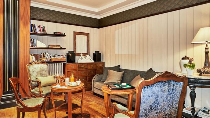 Lounge de l'Hôtel le Beaufort - Lounge van het Hotel le Beaufort